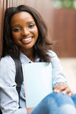 African college student outdoors Royalty Free Stock Images