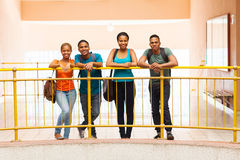 African college students campus. Portrait of african college students on campus Stock Image