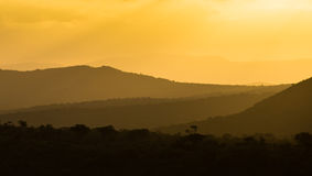 African colourful sunset layers Stock Photography