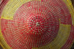 African conical shape colorful hat texture macro Royalty Free Stock Image