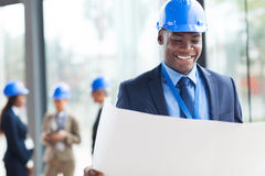 African construction businessman Royalty Free Stock Photography
