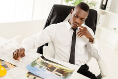 African Construction Engineer Royalty Free Stock Photos