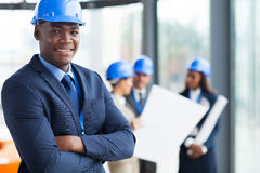 African construction manager Royalty Free Stock Image