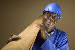 African Construction Worker Royalty Free Stock Photo