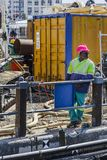 African construction worker Cape Town royalty free stock photo