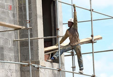 African construction worker. Royalty Free Stock Photos