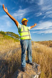 African construction worker Royalty Free Stock Photography