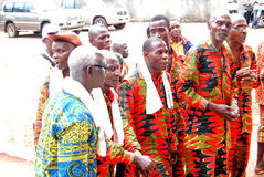 AFRICAN CONTEURS AT THE FUNERAL OF THE MOTHER OF THE PRESIDENT LAURENT GBAGBO Stock Photo