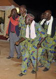 AFRICAN CONTEURS AT THE FUNERAL OF THE MOTHER OF THE PRESIDENT LAURENT GBAGBO Stock Images
