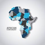 African continent  design. Illustration eps10 graphic Stock Images