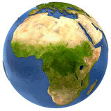 African continent on Earth Stock Photos
