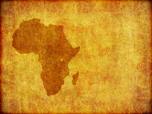 African Continent Grunge Background Graphic. A background design of the continent of Africa imprinted on a piece of aged material. With plenty of copy-space royalty free illustration