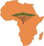 African Continent Royalty Free Stock Photo