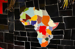 African Continent on Tiles. African Continent on Ceramic Tiles Royalty Free Stock Photos