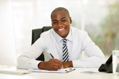 African corporate worker office Royalty Free Stock Image