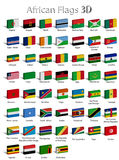 African countries 3D. The flags of the individual African countries 3D Stock Photography