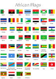 African countries. The flags of the individual African countries stock illustration