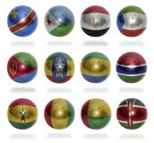 African countries (From D to K) flag balls Stock Photos