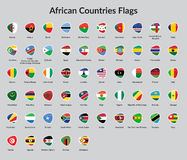 African countries flag. All African Countries Flags. Flags icon or African Countries. African Countries Flag Badges Royalty Free Stock Photography