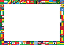 African countries flags. Frame made of African countries flags vector illustration stock illustration
