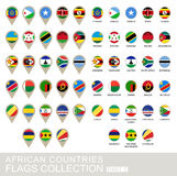 African Countries Flags Collection, Part 2 Royalty Free Stock Images