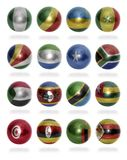 African countries (From N to Z) flag balls Royalty Free Stock Photos