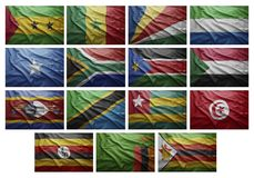 African countries from S to Z Royalty Free Stock Photos