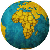 African countries territories on globe map Royalty Free Stock Photography