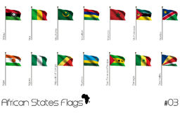 African country flags Royalty Free Stock Images