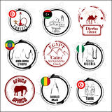 African country stamps Stock Photos