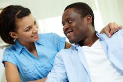 African couple Royalty Free Stock Photography