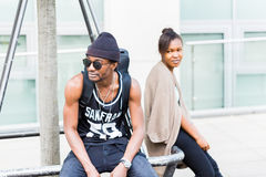 African couple in city Royalty Free Stock Photos