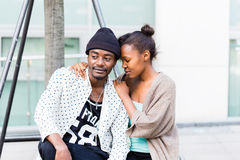African couple in city Royalty Free Stock Images
