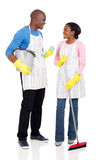 African couple cleaning tools Stock Image