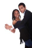 African Couple Dancing Salsa Stock Image