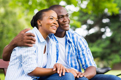 African couple daydreaming Stock Image