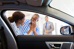 African couple dealership Stock Images