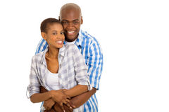 African couple embracing Royalty Free Stock Photo