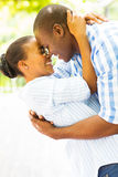 African couple flirting Stock Photos