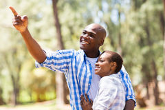 African couple forest Stock Images