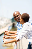 African couple harbor Stock Photos