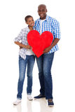 African couple heart Royalty Free Stock Images
