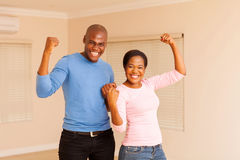African couple holding fist Royalty Free Stock Image