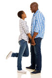 African couple holding hands Stock Images