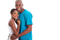 African couple hugging Royalty Free Stock Photography