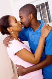African couple kissing Royalty Free Stock Images