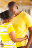 African couple kissing Stock Image