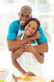 African couple kitchen Royalty Free Stock Photos