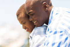 African couple looking down Royalty Free Stock Image