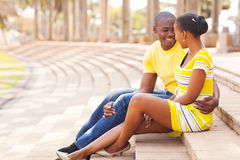 African couple outdoors Royalty Free Stock Image